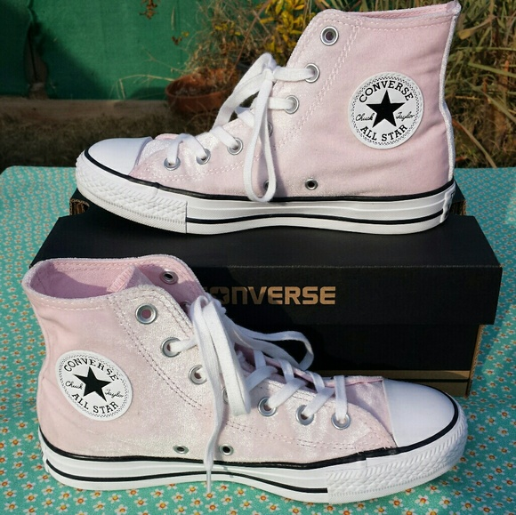 a792cc7c735a Converse Shoes - Madewell Velvet Converse High Tops in Arctic Pink